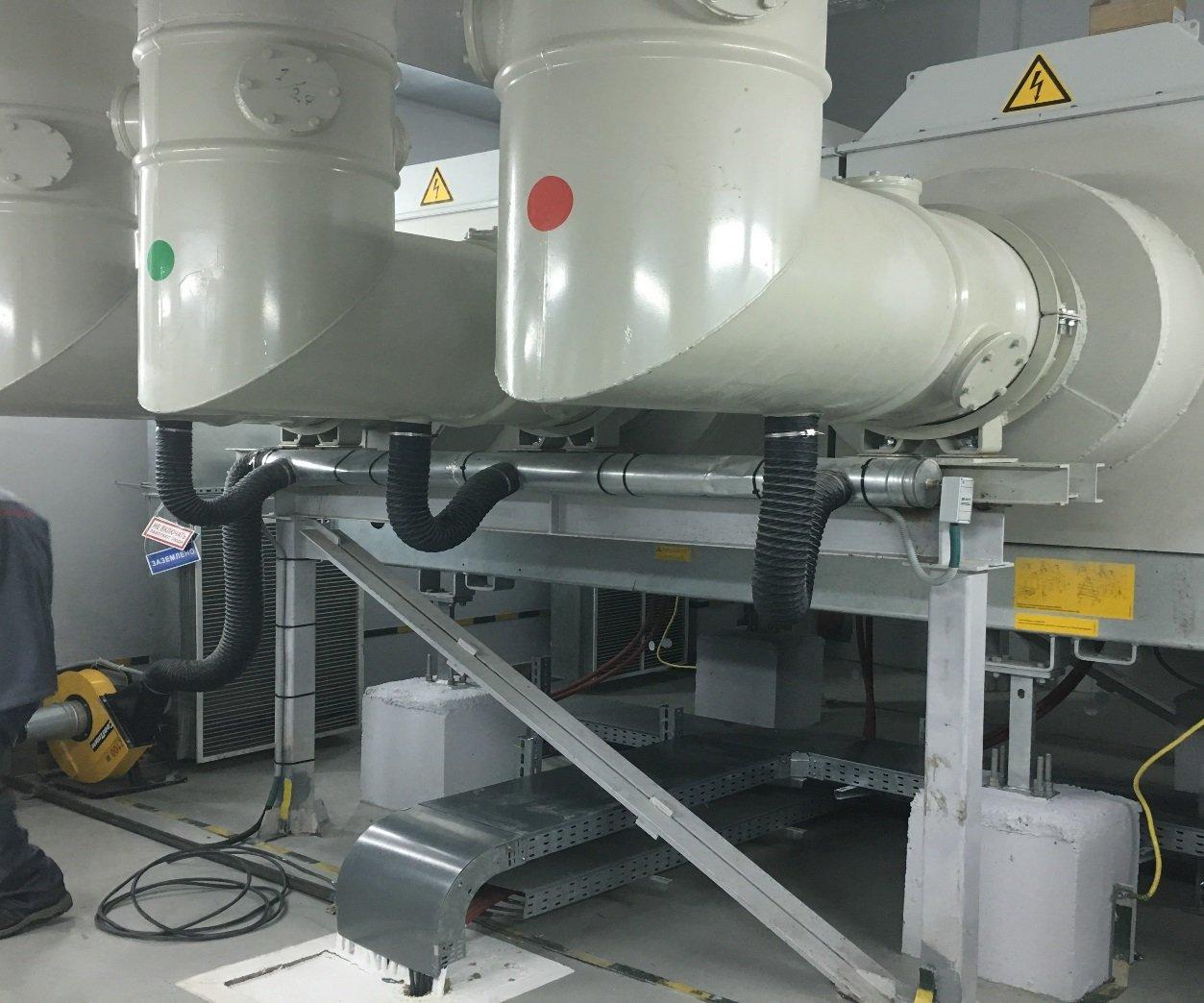 Системы наддува и осушения воздуха на токопроводах